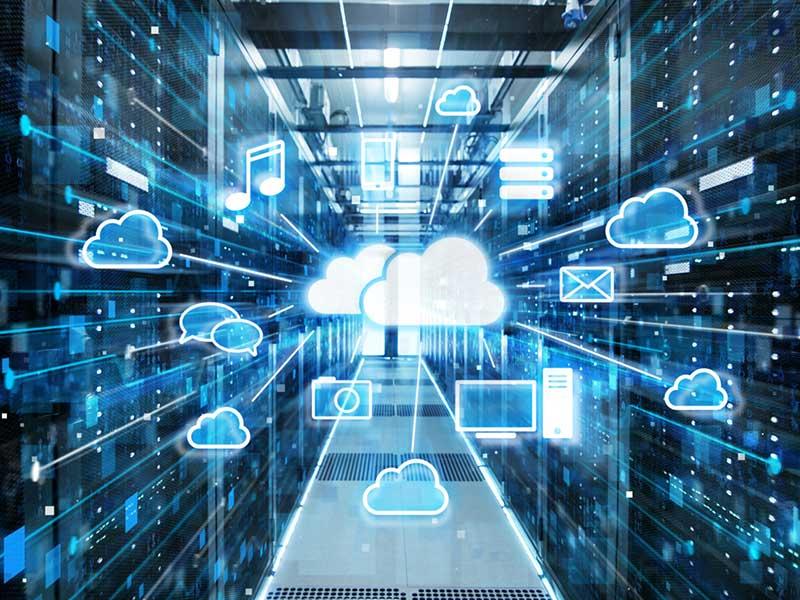 Hier sind Ihre Daten gut aufgehoben und optimal geschützt: Rechenzentrum eines Cloud-Anbieters
